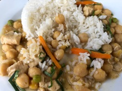 rice, chicken and chickpeas